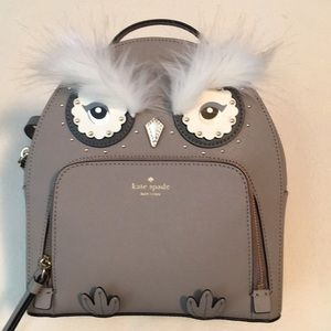 Kate Spade Owl Tomi backpack purse, NWT
